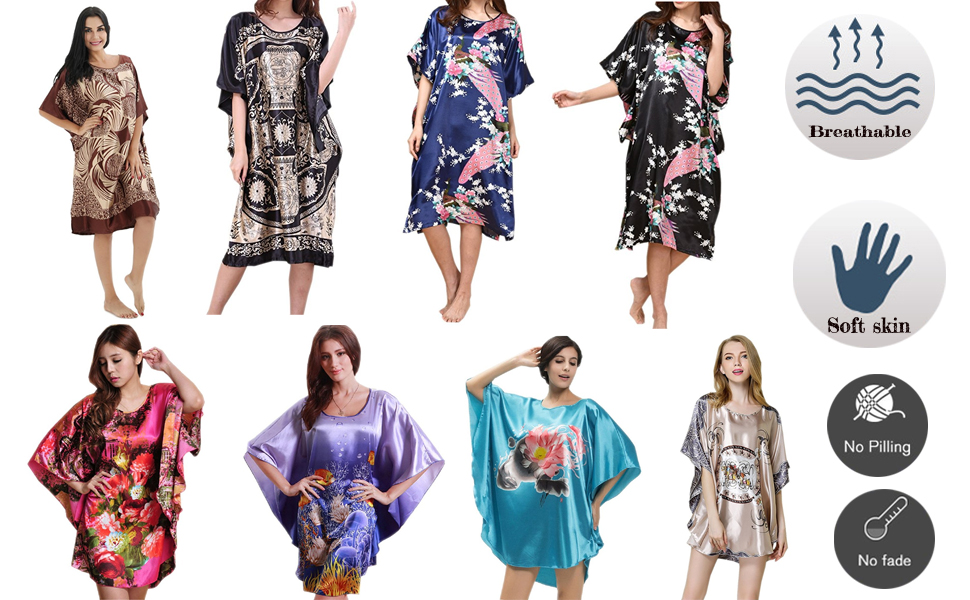 ec9b686f42 SexyTown has combined a classic design nightdress with the luxurious  softness and silky feel fabrics making this Batwing Sleeve Nightgown as  comfortable and ...