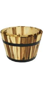 Villa Acacia Planter Barrels Set of Two 11 and 10 Inches