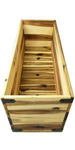"""Villa Acacia 31"""" Wooden Planter Box"""