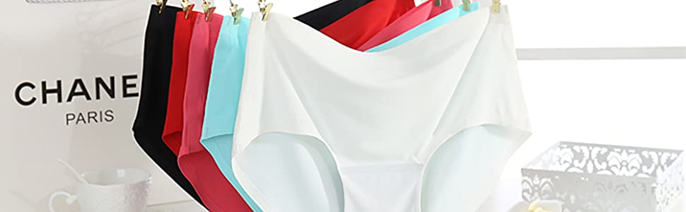 Women's Seamless Hipster Panties Invisible No Show Bikini Underwear Full Back Coverage  Briefs