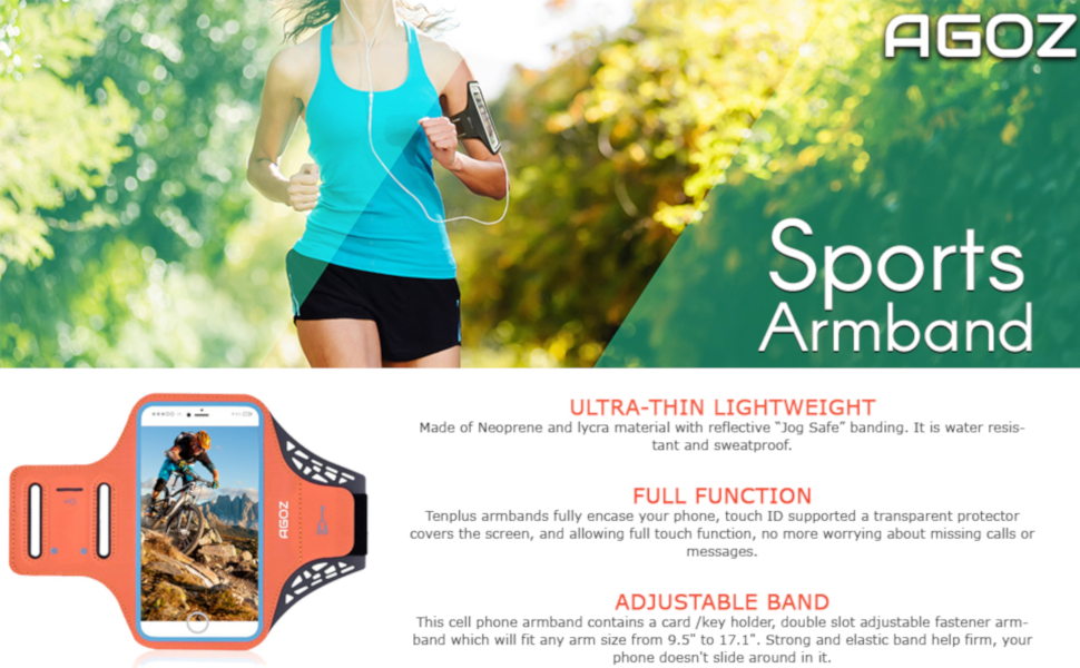 Armband Cell Phone Holder Sports Case Gym Running Jogging Biking Samsung Galaxy Note 9 8 S8 Plus S9