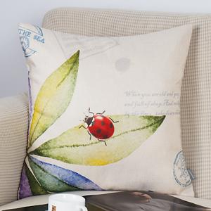 Amazon.com: ONWAY - Funda de cojín de lino y algodón de 18.0 ...