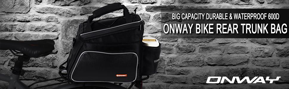 2014289fa62b Amazon.com   ONWAY Bike Rack Bag Waterproof Bike Bags Rear Rack ...