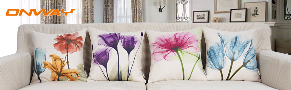 FLOWER PATIO PILLOW COVER