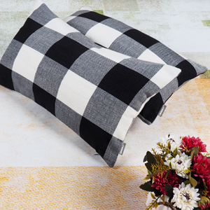 Buffalo Check Pillow Covers Black and White