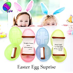 religious Christian church Easter eggs baskets stuffers fillers toys stickers kids childrens prizes