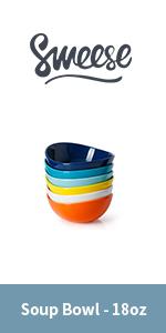 Colored soup bowl