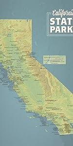 Amazon com: California Federal Lands Map 18x24 Poster