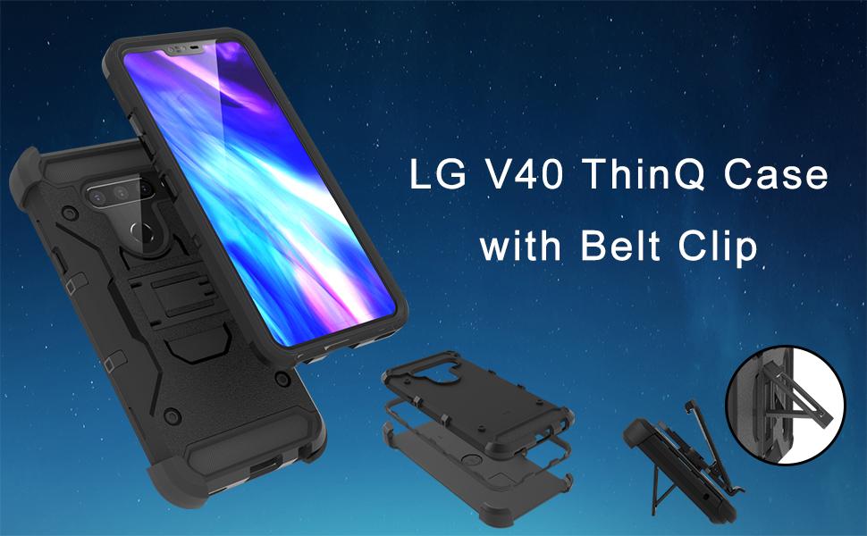 belt clip case lg v40 thinq