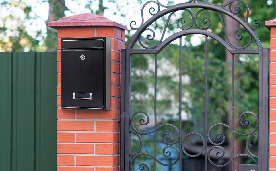 wall mounted mailboxes with key lock black