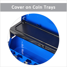 cash box with coin cover