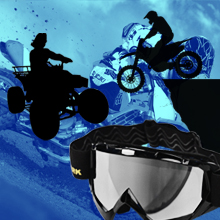 Amazon.com: AULLY PARK - Gafas de motocicleta, L, Negro ...