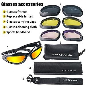 Amazon.com: Gafas Aully Park polarizadas para montar en ...