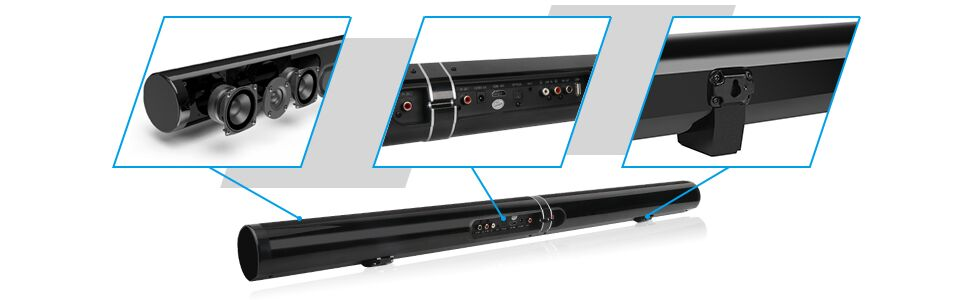 50w 40in 39inch soundbar sound bars for tv bluetooth soundbar bluetooth soundbar for tv computer pc
