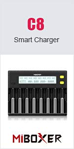 8 bay charger for multiple types kinds of batteries big family children lab classroom teachers study