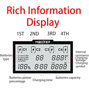 select optimum charge current,Supports 4-channel simultaneous independent charging without affecting