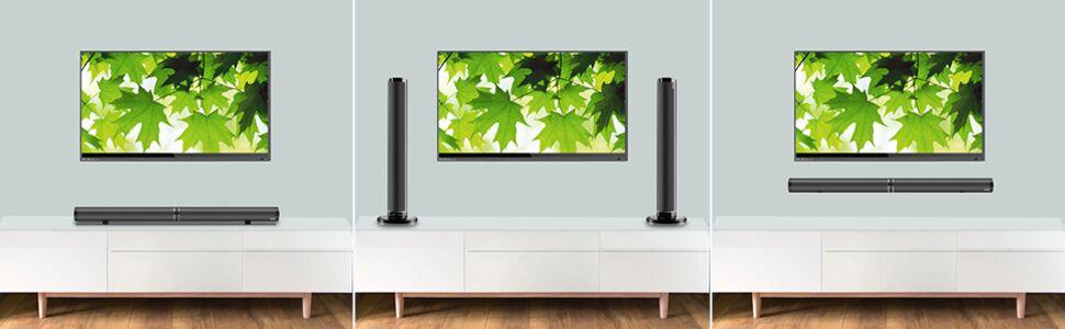 tv speakers surround sound speakers home theater speakers stereo speakers tower speakers for tv bt