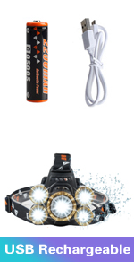 headlamp flashlight rechargeable head lamp rechargeble headlight bright led work hardhat brightest