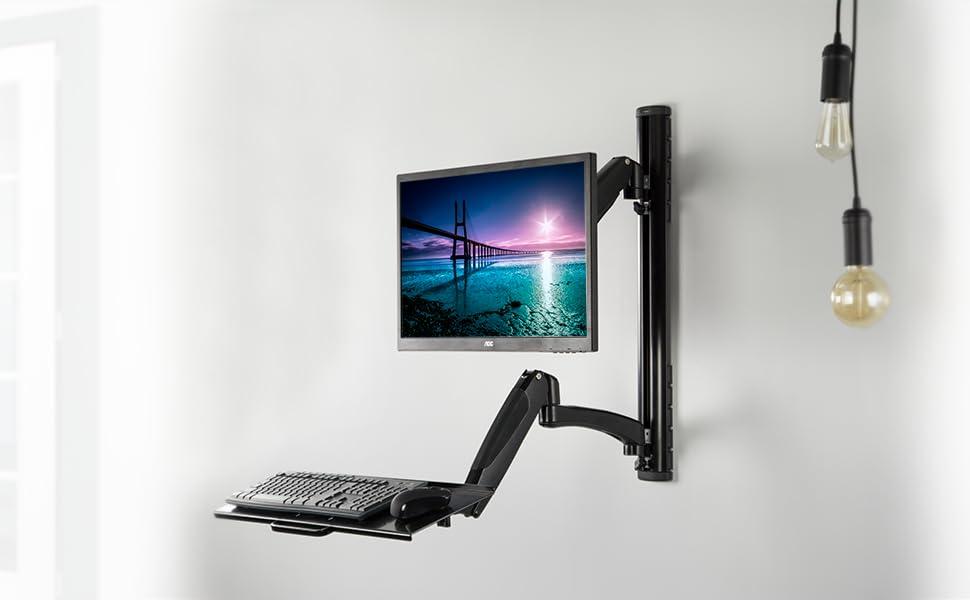 Amazon Com Vivo Black Sit Stand Wall Mount Counterbalance