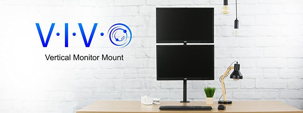 Amazon Com Vivo Dual Lcd Monitor Desk Mount Stand Heavy