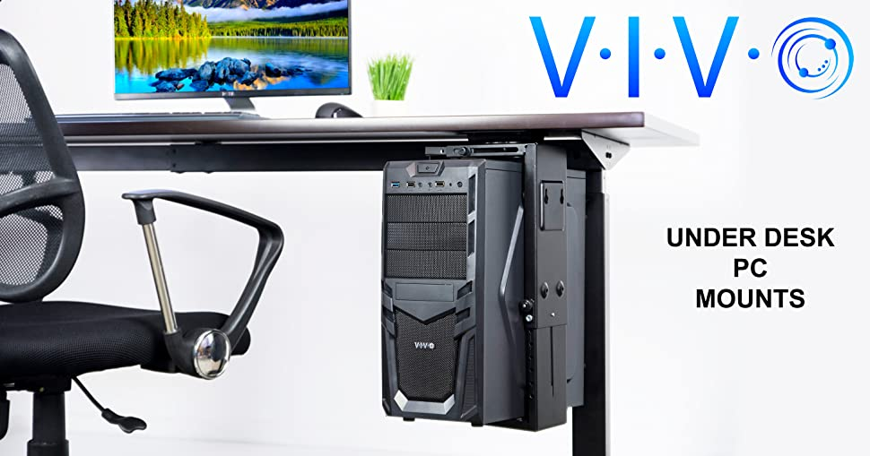 Amazon Com Vivo Adjustable Under Desk And Wall Pc Mount