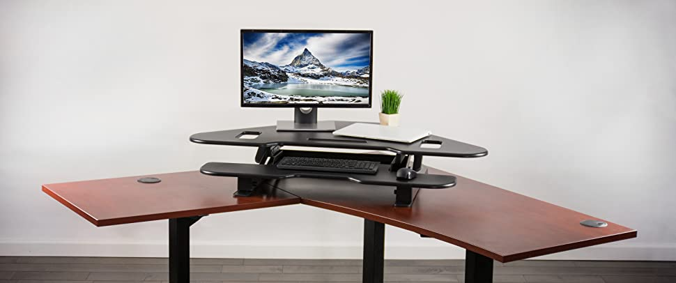 to desk amazon riser up standing height sit stand wide com adjustable black voicesofimani