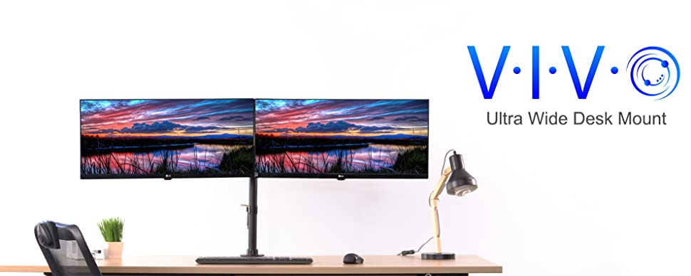 Amazon Com Vivo Dual Computer Monitor Mount Fully