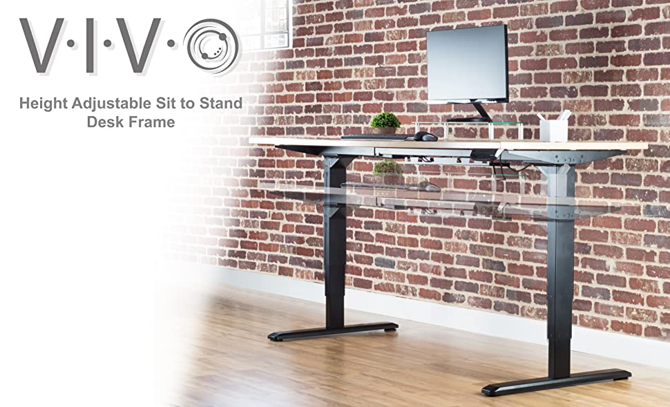 Dual Motor Electric Height Adjustable Frame (DESK V102E) From VIVO Allows  You To Create Your Own Desk Space And Find That Much Needed Healthy Balance  Of ...
