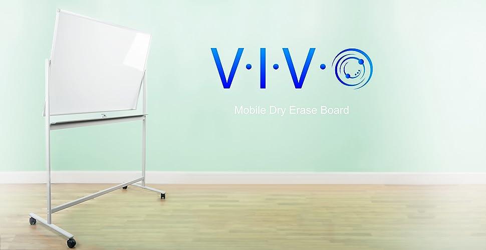 "Amazon.com : VIVO Mobile Dry Erase Board 48"" x 32"" Double"