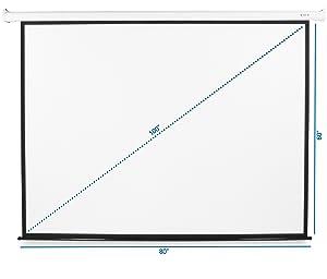 VIVO 100 inch Electric Motorized Projector Screen | 100 inch Diagonal Auto with Remote 4:3 Projection HD (PS-E-100E)