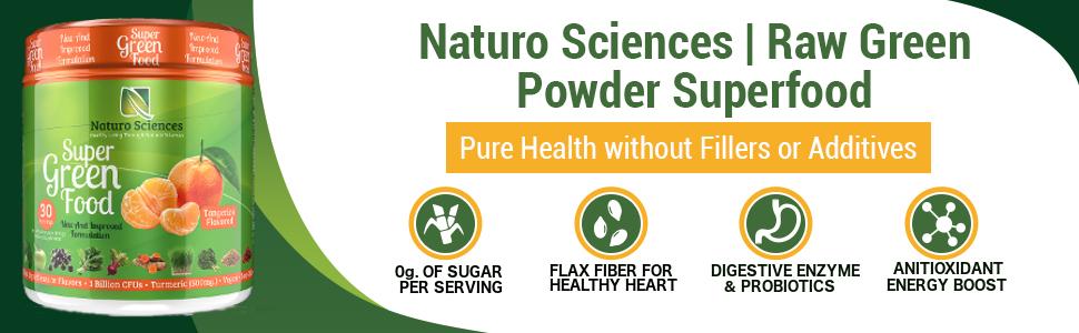 no sugar flax fiber digestive enzyme antioxidant energy