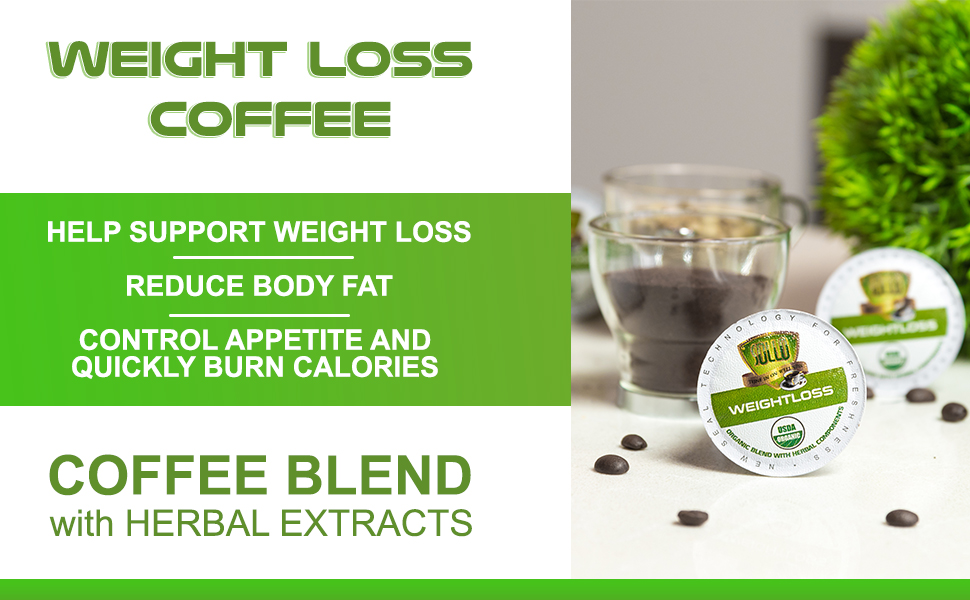 Weight Loss Coffee Pods Compatible With 2.0 K-Cup Keurig Brewers