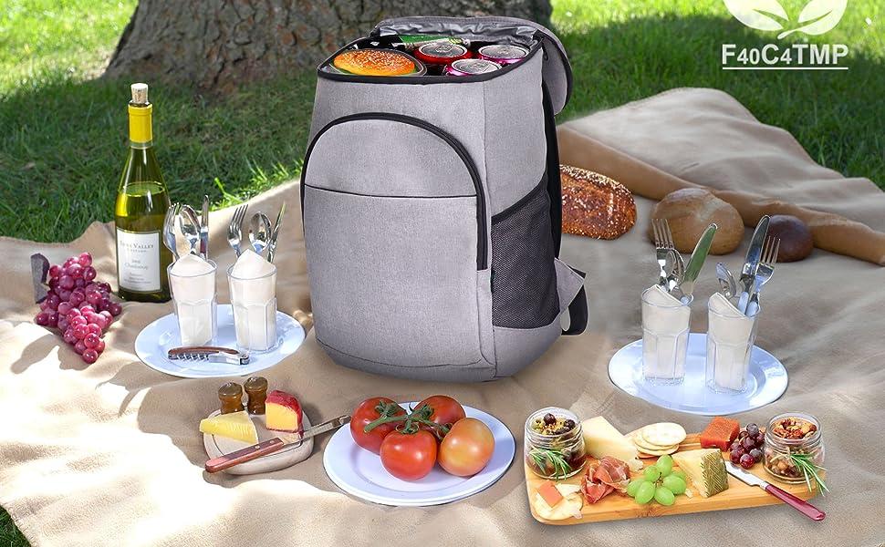 Backpack Cooler for men women adult large capacity lunch bag