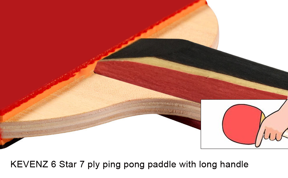 KEVENZ 4 Star Table Tennis Racket   Professional Ping Pong Paddle set with  High Performance Rubber   7 ply Wooden Blade with Long Handle. Amazon com   1 Pack KEVENZ Pro Table Tennis Racket  7 ply Wooden