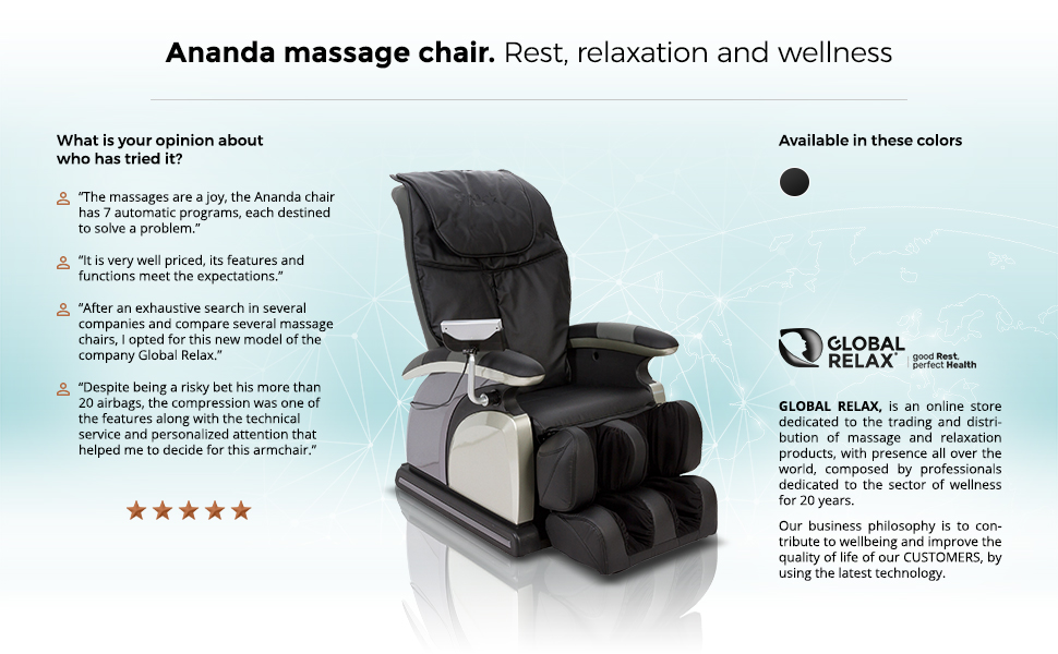 Amazon.com: Ananda Massage Chair - Black (2019 New Model ...