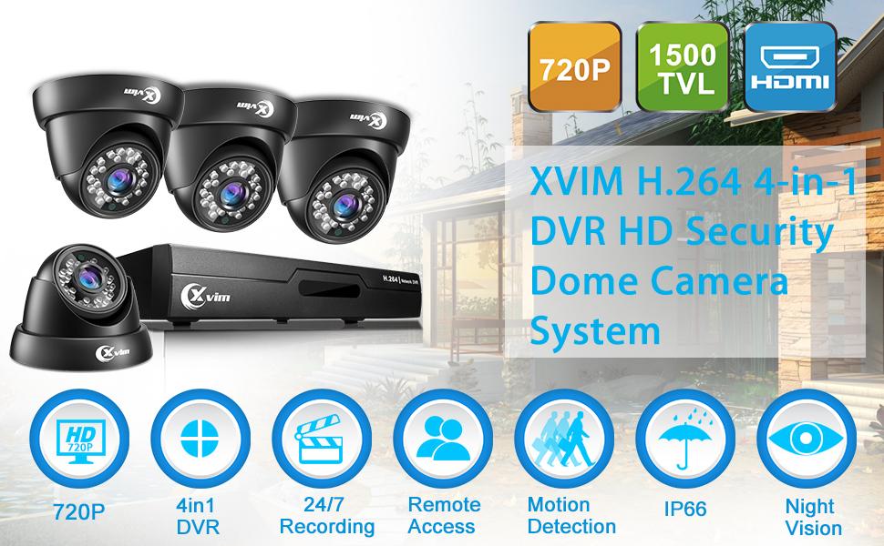 Amazon.com: Sistema DVR de seguridad de vídeo XVIM 8 CH HD ...