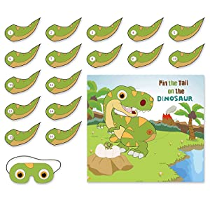 Green Cartoon Dinosaur Birthday Banner