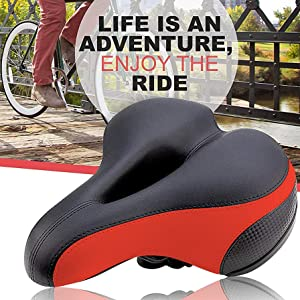 red bike seat casual cycling