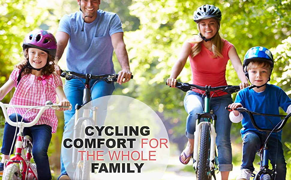 family most comfortable bike bicycle seat