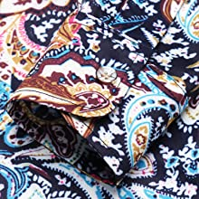 Mens Paisley Noble Long Sleeve Vintage Italian Button-up Print Luxury Casual Button Down Dress Shirt
