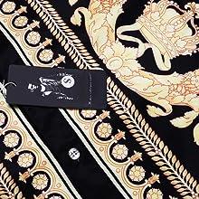 Daupanzees Mens Short Sleeve Fashion Luxury Design Print