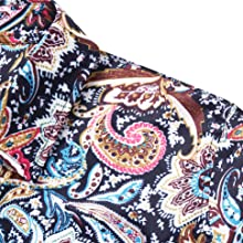 Mens Luxury Design Floral Carnival Baroque Retro Pattern Shows Party Daily Life Print Paisley Shirt