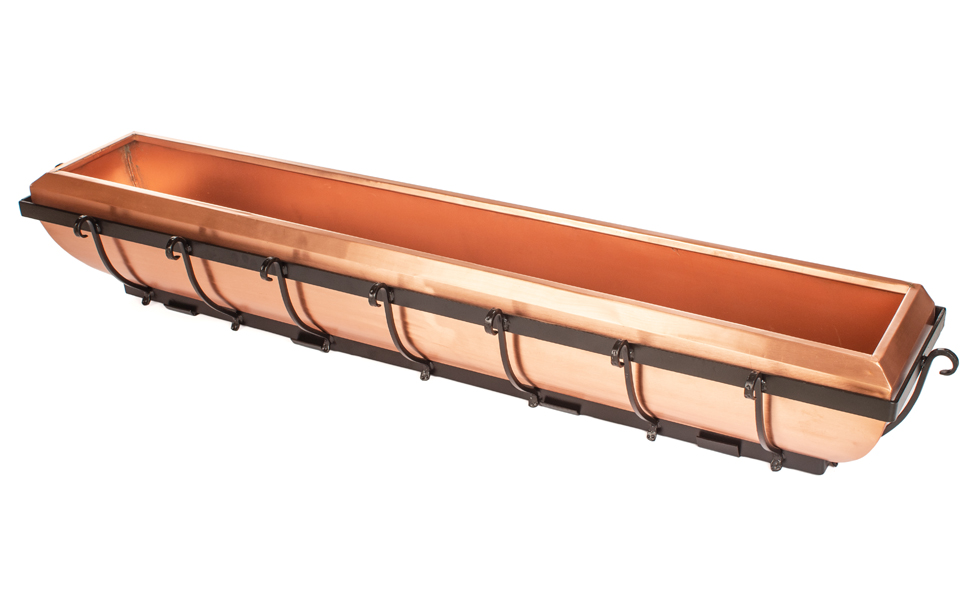 H Potter real copper window box 48 inch