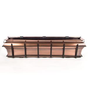 H Potter copper window box flower planter metal