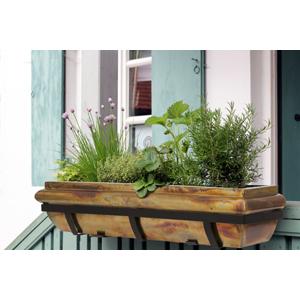 H Potter rustic copper window box