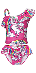 Amazon.com: Cotrio Unicorn Swimsuit Girls One-Piece