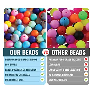 Teeny Teeth 10 Pcs Marble White Chewable Bpa Free Rose Silicone Beads For Jewelry Loose Baby Teether Diy Silicone Sensory Toys Non-Ironing Beads & Jewelry Making Jewelry & Accessories