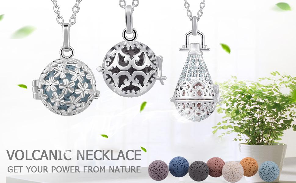 eudora arome lava stone diffuser necklace