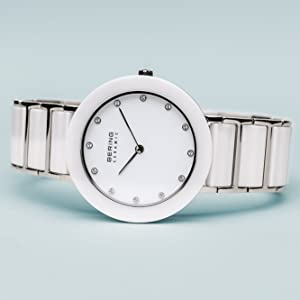 Bering Womens watch Bracelet sapphire crystal Slim Unisex Behring Skagen Ceramic Design Fashion