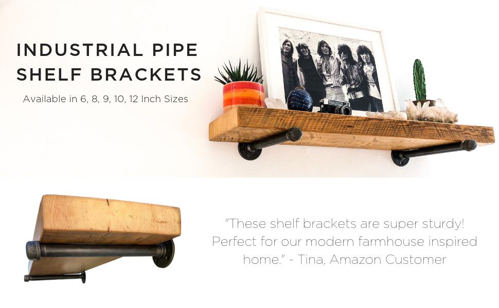 Amazon com: DIY CARTEL Industrial Pipe Shelf Bracket